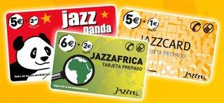 Las calling card de Jazzcard